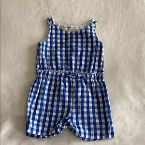 Other - Blue checked romper